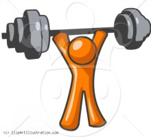 clipart-illustration-of-orange-man-lifting-weights-exercising-muscles-workout
