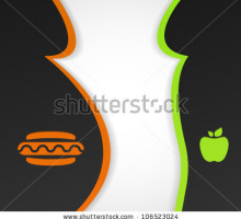 bariatrica stock-vector-conceptual-background-on-the-theme-of-obesity-and-healthy-eating-eps-106523024